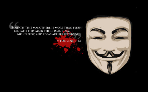V For Vendetta Fond Decran Titled