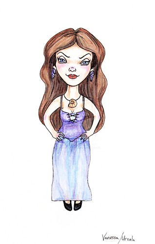 "Walt Disney Fan Art - Vanessa from ""The Little Mermaid"""