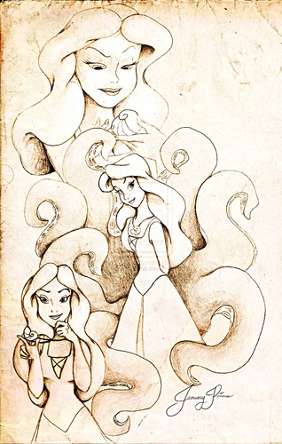 "Walt Disney tagahanga Art - Vanessa from ""The Little Mermaid"""