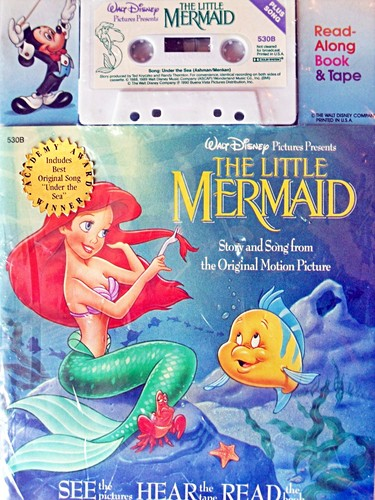 Walt 디즈니 Read-Along Book and Tape - The Little Mermaid