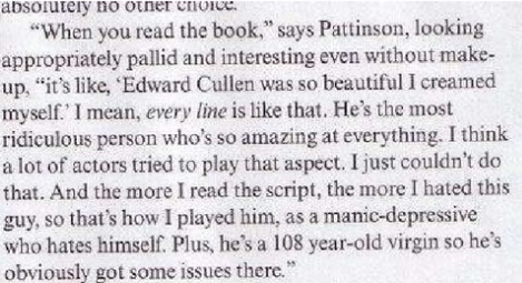 What Pattinson Thinks Of Edward