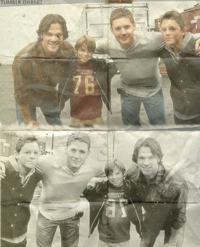 Younger!Dean and Sam with Older!Dean and Sam