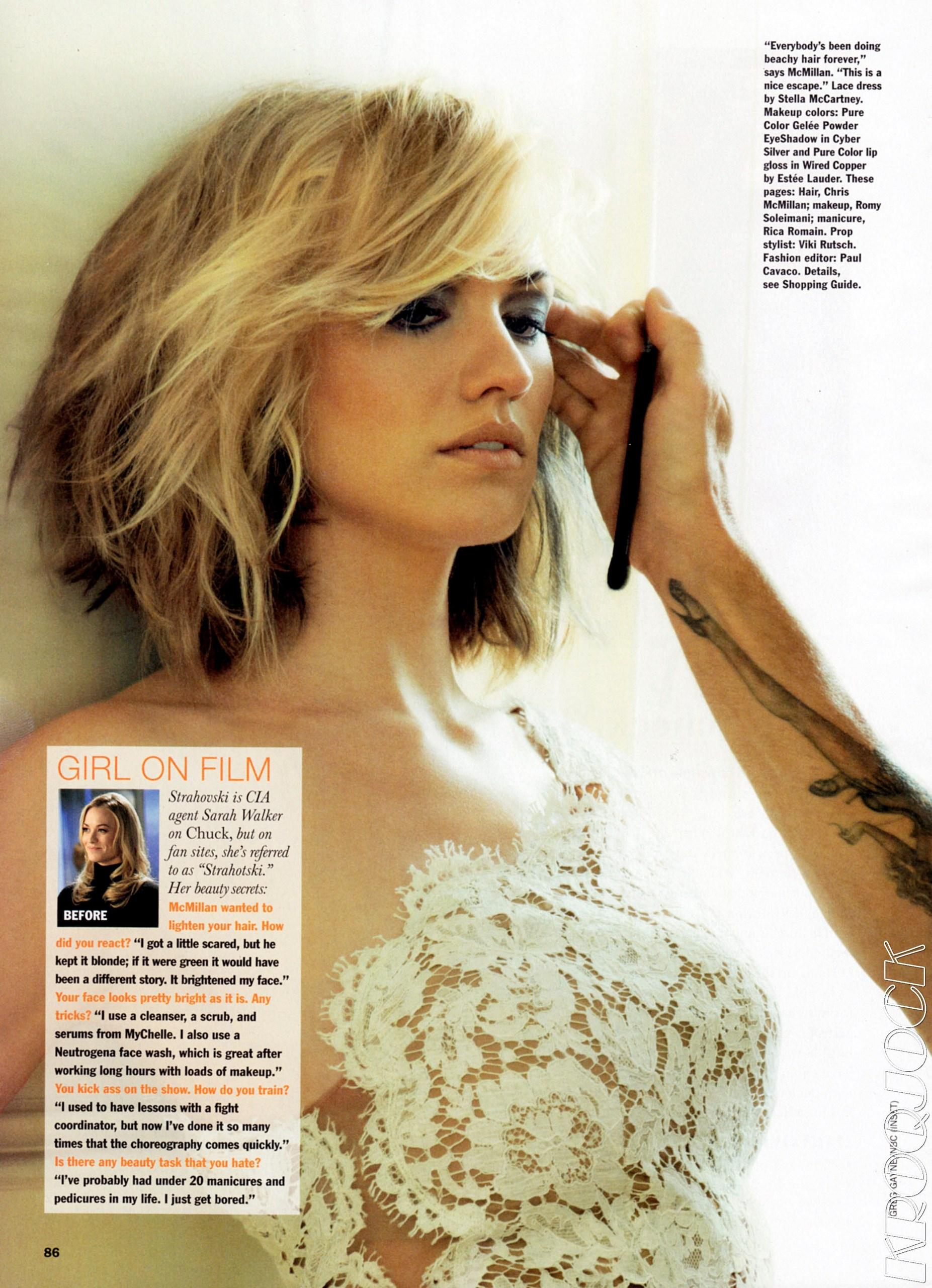 Yvonne Strahovski in the January 2012 Issue of Allure Magazine