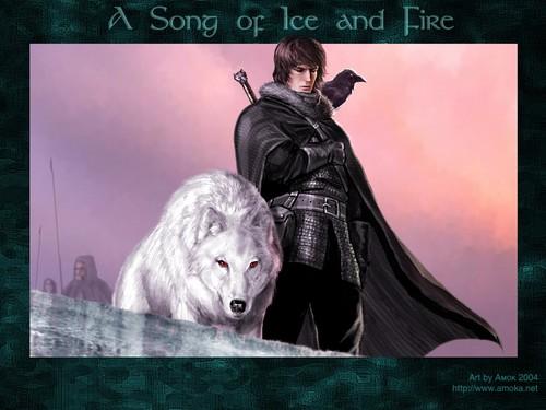 Trò chơi vương quyền hình nền entitled Jon Snow & Ghost