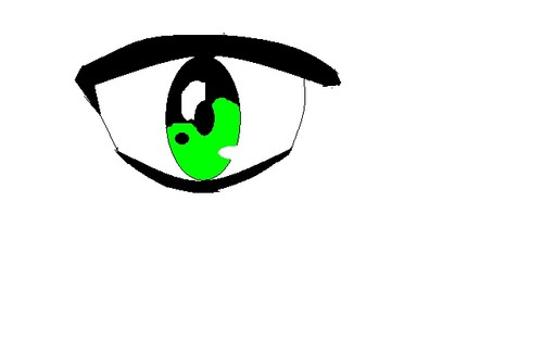 my attempt at Anime eyes