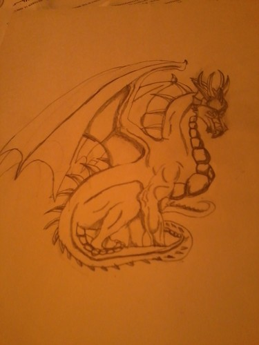 my first dragon drawing
