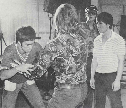 on the set of WAY OF THE DRAGON