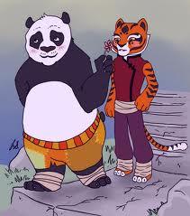 po and harimau betina, membukakan