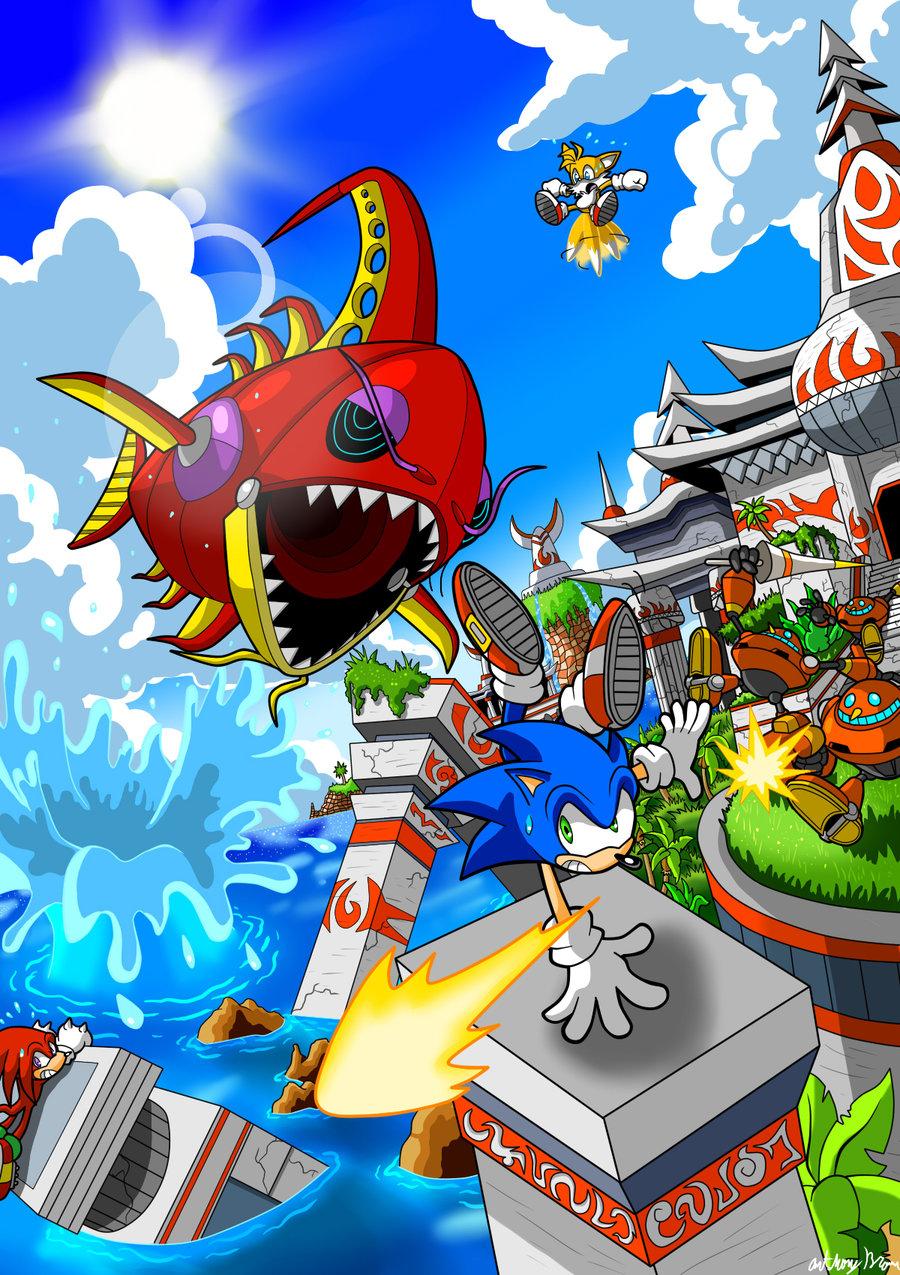Seaside Hill Sonic The Hedgehog Fan Art 27631560 Fanpop