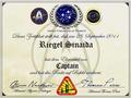 «Certificate of Starfleet Academy» [«Starfleet - United Federation of Planets»]