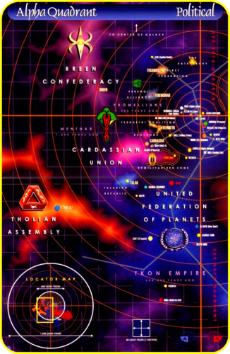 «Map Space of the Alpha - Quadrant» [ «Star Trek Universe» ]