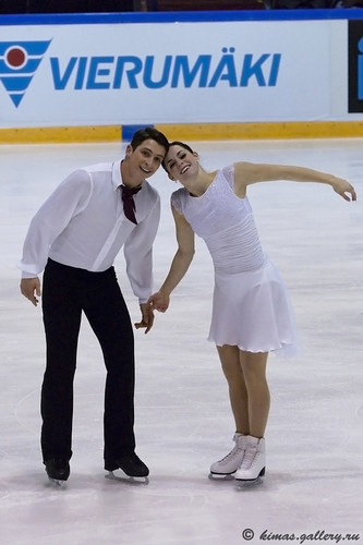 Tessa Virtue & Scott Moir wallpaper probably containing a well dressed person titled 2011, finlandia trophy, funny face, fd