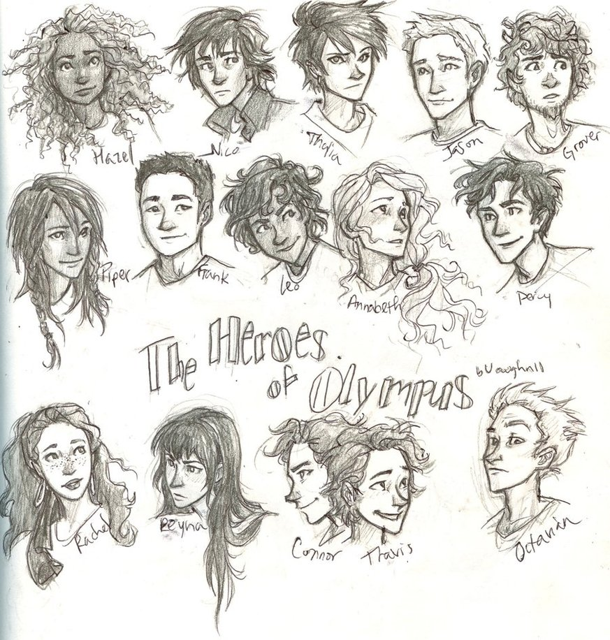 All HoO character (main ones) - The Heroes of Olympus Fan ...