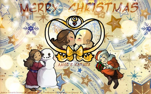 Avatar Christmas - Aang & Katara ~ ♥