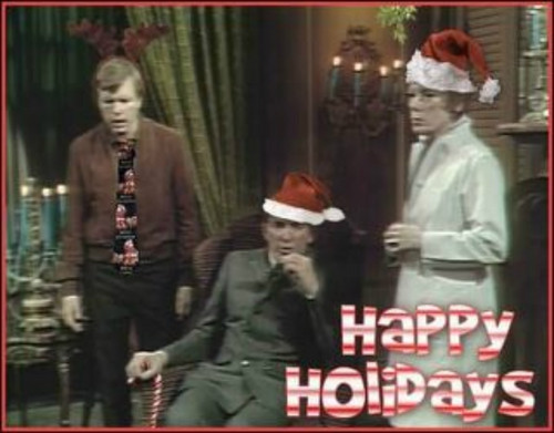 Barnabas, Julia, and Willie--Merry Christmas!