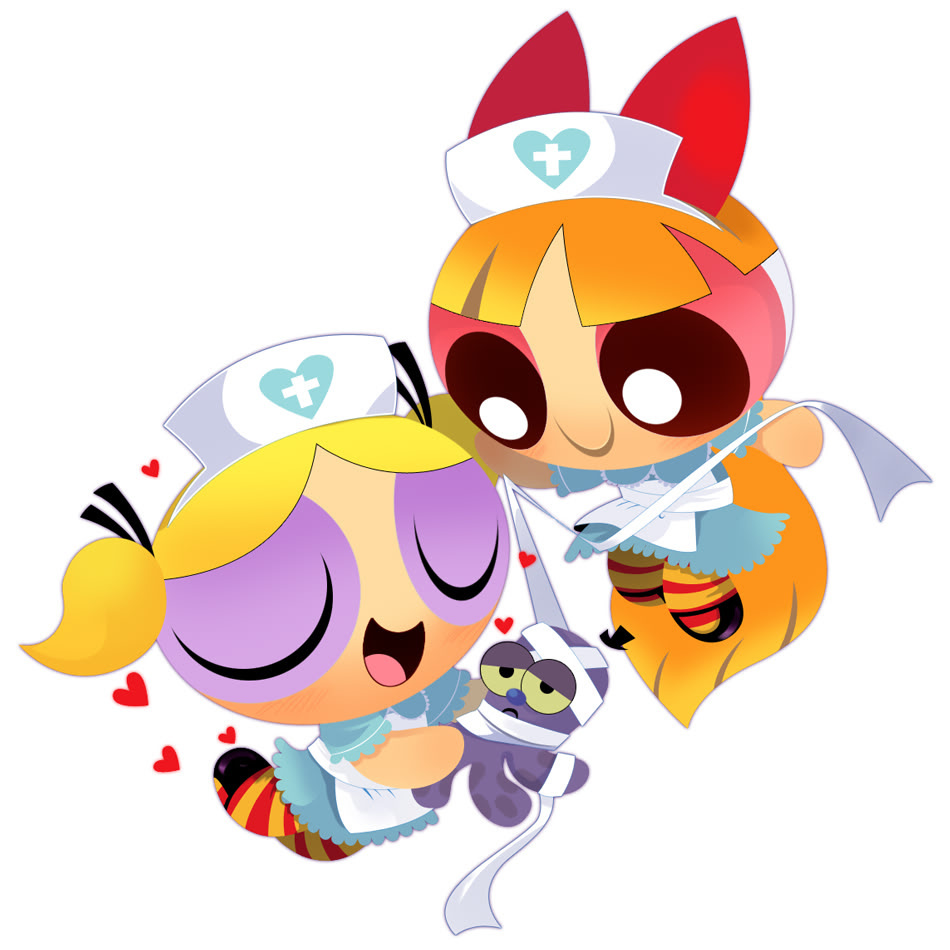 Bubbles Powerpuff Girl z Girls Blossom And Bubbles