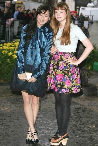 Bonnie Wright and Katie Leung