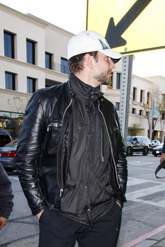 Bradley Cooper leaves Madeo restaurant in Los Angeles after having lunch
