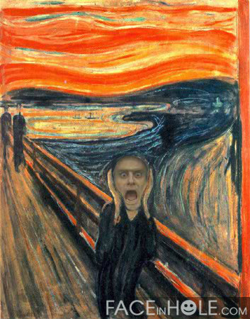 Count Olaf as The Scream - a-series-of-unfortunate-events Fan Art