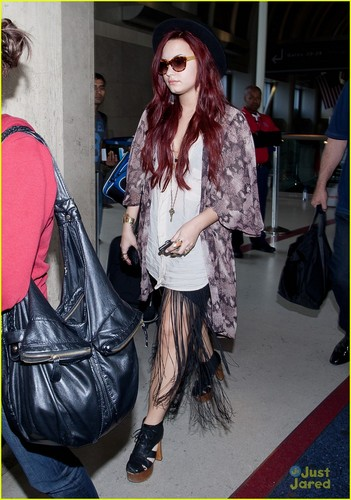 Demi Lovato at LAX (December 17, 2011)