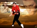 Elvis  in Red - elvis-presley wallpaper