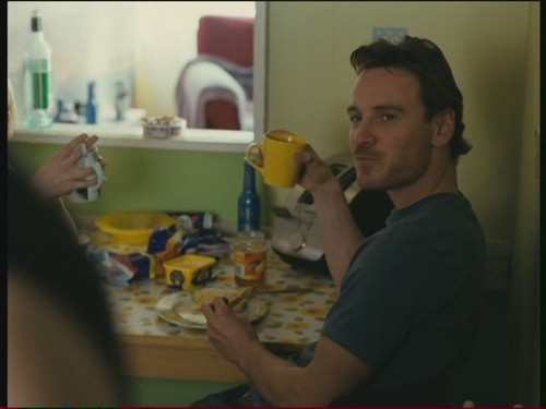 Michael Fassbender wallpaper possibly with an egg yolk titled Fish Tank