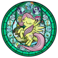 Fluttershy stained glass