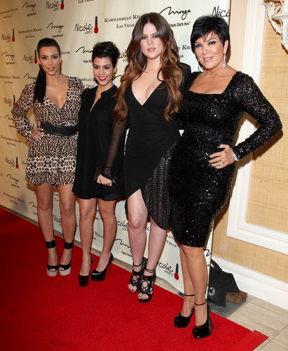 Kourtney Kardashian wallpaper with a cocktail dress entitled Grand Opening Of Kardashian Khaos At The Mirage Hotel & Casino