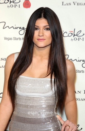 Kylie Jenner wallpaper probably containing a cocktail dress, a chemise, and attractiveness titled Grand Opening Of Kardashian Khaos At The Mirage Hotel & Casino