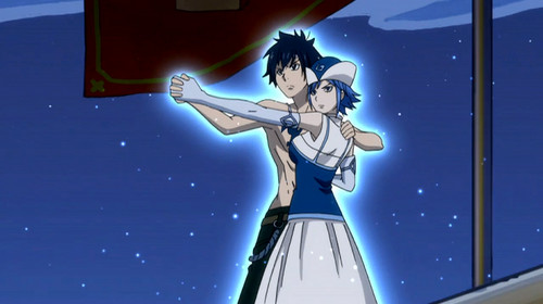 Fairy Tail Wallpaper Possibly With A Wind Turbine And Anime Entitled Gray Juvia Special Moment