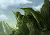 Green Drake on a cliff - dragons Icon