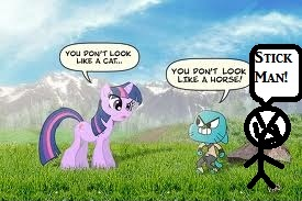 Gumball'My Little poney And Stickman