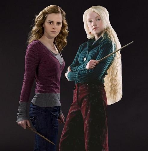 Hermione Granger and Luna Lovegood HBP