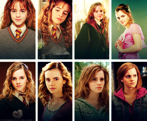Harry Potter hình nền called Hermione Through The Years
