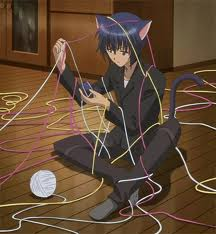 Ikuto playing with yarn!