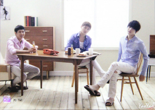 JYJ wallpaper probably with a dinner table called JYJ Collection Card