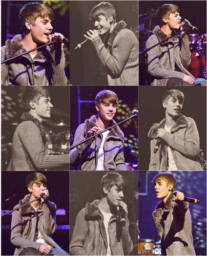 Justin Bieber with Stevie Wonder charity benefit