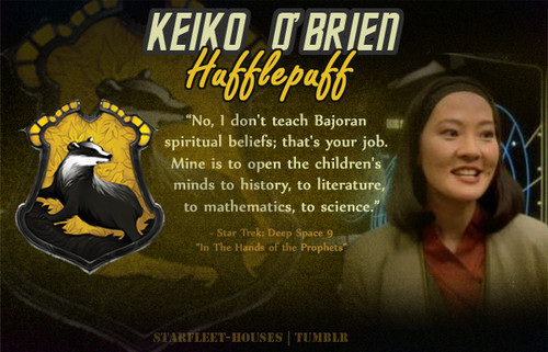 estrella Trek: Deep el espacio Nine fondo de pantalla containing anime entitled Keiko O'Brien - Hufflepuff