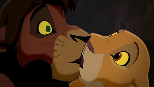 Kiara and Kovu's kiss
