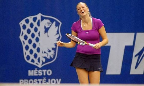 Kvitova and Pavlasek tennis exhibition