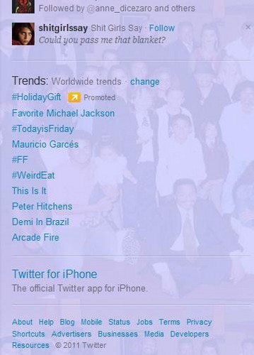 Michael Jackson and This Is It Trending Worldwide on Twitter 16/12/11