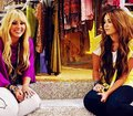 Miley Cyrus with Hannah Montana