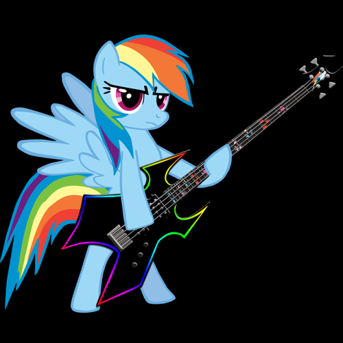 More pics of Rainbow Dash playing the guitar