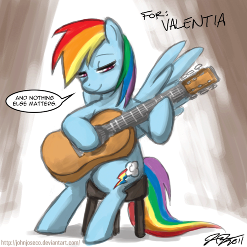 lebih pics of pelangi, rainbow Dash playing the gitar