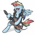 plus pics of arc en ciel Dash playing the guitare
