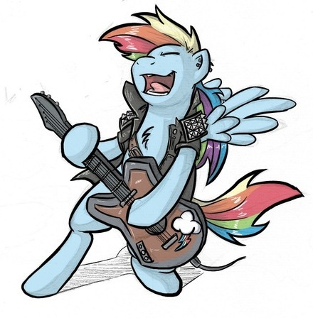 Rainbow Dash Plays Guitar of Rainbow Dash Playing