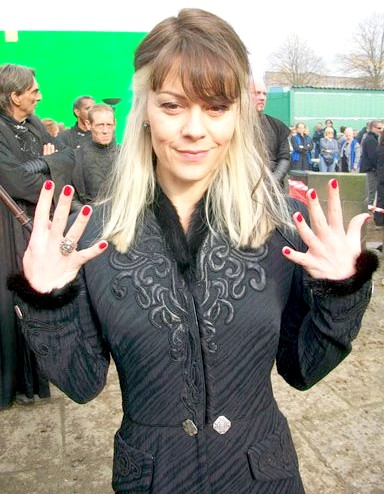 Narcissa showing off her nails