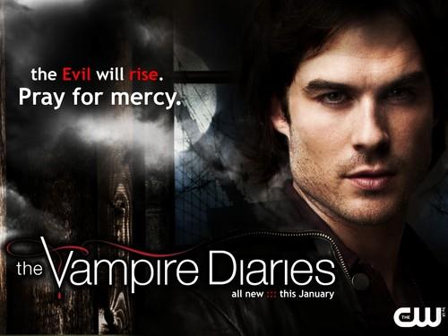 New season 3 wallpaper-Damon!