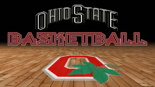 OHIO STATE BUCKEYES basketball, basket-ball RED BLOCK O
