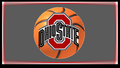 OHIO STATE RED BLOCK O basketball, basket-ball